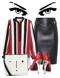 """""""Untitled #14"""" by upstate-glamma on Polyvore featuring Moschino, Zeus+Dione, Lulu Guinness and Versus"""