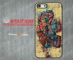 Elephant Art iPhone 5S Case Elephant iPhone 5s case Elephant iphone 5s case iPhone5s Hard/Rubber case-Choose Favourite Color by MyCasesKing, $6.99