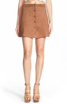 Free shipping and returns on Wayf Faux Suede Skirt at Nordstrom.com. A vintage-inspired waist tops a supple faux-suede skirt in a flattering A-line silhouette.