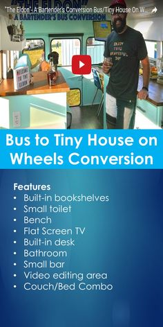 Tiny House Video Tour: Bus to Tiny House on Wheels Conversion | Tiny Quality Homes