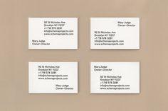 Schema Projects by Kiku Obata & Company — The Brand Identity