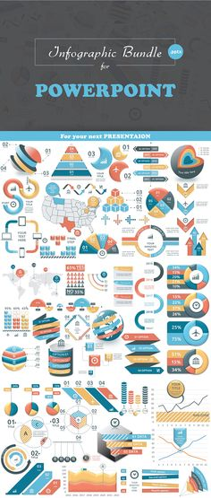 This infographic template bundle fully compatible with Microsoft Powerpoint 2007, 2010, 2013 that can open .pptx presentation file. All infographic objects are fully vector (you can change image size without quality penalty). All charts (except timeline) …