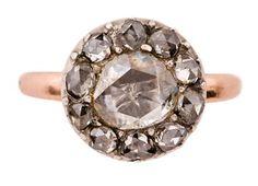 Annina Vogel rose gold georgian cut diamond ring, gorg
