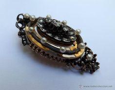 Broche- pendentif antiguo. Oro y brillantes. Siglo XIX / Joyas antiguas en todocoleccion