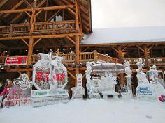 Lake Louise Ski Hill Ice Sculpture