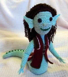 Nagini, crochet amigurumi plush mythical creature by SeaKnightsCraft on Etsy