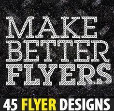 Flyer Designs - 45 Stunning Design for Inspiration