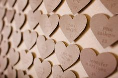 heart shaped seating cards  Photography by angiewilsonphotography.com, Planning by table6productions.com