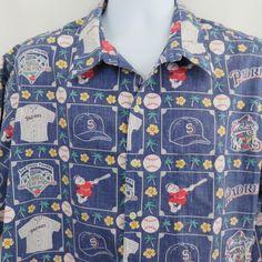7604cfa8 Reyn Spooner 1998 Padres San Diego Hawaiian Aloha Shirt Reverse Print  Champions #ReynSpooner #Hawaiian