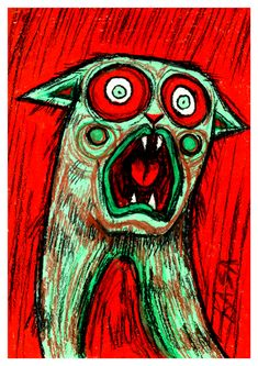The Emotional Cats is a pastel drawing series, where I highlight the feelings and emotions of cats using bright colors and strong contour.The Emotional Cats could be seen at Tartu Werner cafe from July to November of my Emotional Cats are for… Happy Emotions, Feelings And Emotions, Red Cat, Blue Cats, Young Art, Johannes Vermeer, Dutch Painters, Pastel Drawing, Grumpy Cat