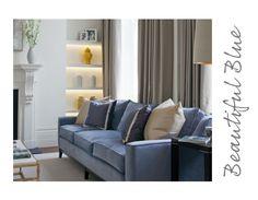 th2 Designs.© Beautiful blue velvet sofa