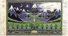 JRR Tolkein artwork - Hobbit dust jacket