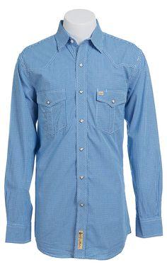 Larry Mahan Mens L/S Western Snap Shirt LMSMCLAY