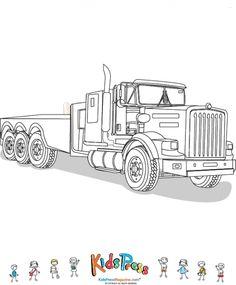 Exceptionnel : Coloriage De Camion Course Travaux A