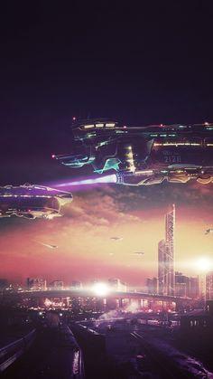 sci-fi skyline