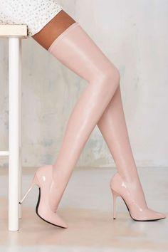 Nasty Gal Closer Thigh High Stiletto Boot - Lights Down Low | Lights Down Low | Heels | Knee High