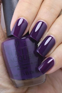 Nails purple OPI Venice Collection for Fall/Winter Purple Nail Art, Purple Nail Designs, Gel Nail Designs, Opi Nails, Nail Manicure, Trendy Nails, Cute Nails, Nail Polish Colors, Gel Polish