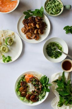 Vietnamese Vermicelli Bowl with Grilled Pork and Shrimp | Sprig and Flours