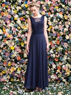 Floral backdrop.  (Laura Maxi Dress - Review)