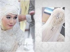 Ivory wedding outfit, #hijab