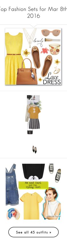 """""""Top Fashion Sets for Mar 8th, 2016"""" by polyvore ❤ liked on Polyvore featuring Yumi, tarte, Tod's, Forever 21, Tory Burch, Eve Lom, Illesteva, chic, lacedress and polyvoreeditorial"""