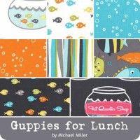 Guppies for Lunch YardageMichael Miller Fabrics