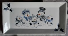 C Steele Collection Porcelain China Refferal: 4931799298 China Painting, Ceramic Painting, Diy Painting, Ceramic Art, Christmas Plates, Christmas Art, Christmas Ideas For Boyfriend, Snowmen Pictures, Illustration Noel