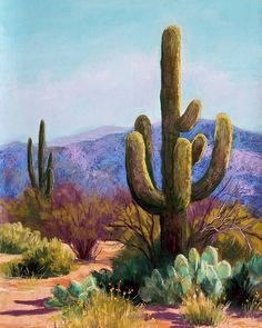 Saguaro Pastel by Candy Mayer