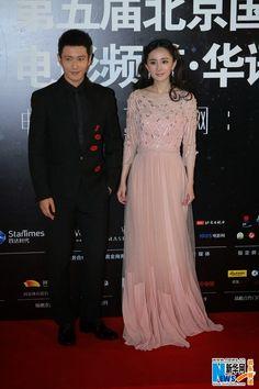 Huang Xiaoming and Yang Mi at Beijing Film Festival   China Entertainment News