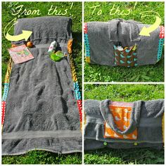 Super FUN!... See how to make this Sunbathing Companion. It's a DIY beach towel lounger/carrying case!