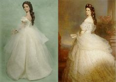 "Enchanted Serenity of Period Films: Crawford Manor - Custom made Dolls ~ Empress Elizabeth of Austria ""Sissi"""