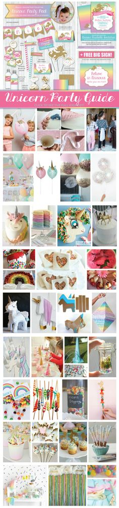 Unicorn Party Guide: The ultimate list of ideas for everything you need to throw the most magical rainbow unicorn birthday party or baby shower!