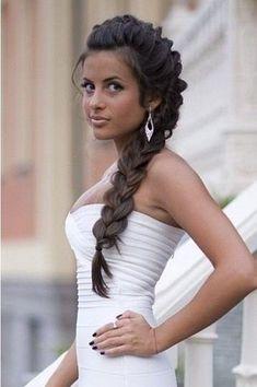 Side Braid Hairstyles For Weddings Side Braided Hairstyles for Wedding, Prom Popular Haircuts French Braid Hairstyles, Side Hairstyles, Cute Girls Hairstyles, Elegant Hairstyles, Pretty Hairstyles, Dreadlock Hairstyles, Hairstyle Ideas, Braided Prom Hair, Braided Hairstyles For Wedding