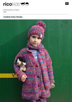 Rico knitting patterns for the whole family: chunky jacket for kids: download the pattern on LoveKnitting