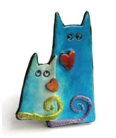Christine Pecaut's cats on The Daily Polymer Arts Blog