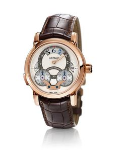 Montblanc Nicolas Rieussec Rising Hours  Red Gold