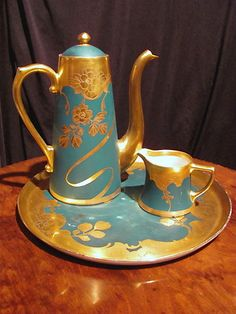 Antique Pickard Art Nouveau Tea Coffee Set Circa 1910 Coufall