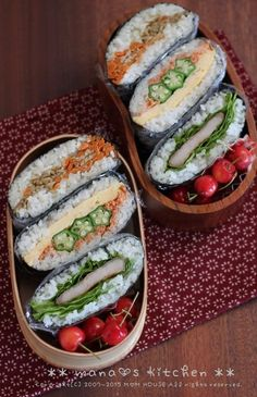 Onigirazu Bento   mana's Kitchen