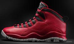 "Air Jordan X ""Red Cement"" Retro"