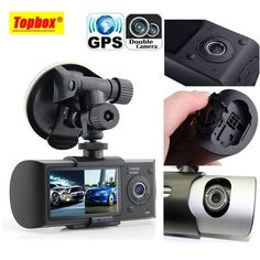 """Dual Camera Car DVR R300 with GPS and 3D G-Sensor 2.7"""" TFT LCD X3000 Cam Video Camcorder Cycle Recording Digital Zoom 