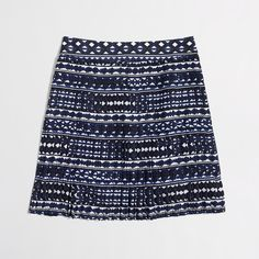 "J. Crew pleated skirt Poly. Sits at waist. 18"" long. Back zip. Lined. Machine wash.  From Factory J. Crew Skirts"