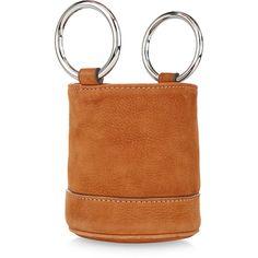 Simon Miller Malt Suede Bonsai Bucket Bag ($395) ❤ liked on Polyvore featuring bags, handbags, shoulder bags, suede purse, mini bucket bags, bucket bags, mini shoulder bag and suede shoulder bag