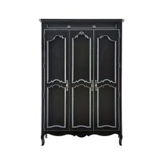 Stanley Young America Ma Marie Armoire with Three Doors - Layla Grayce ($1,929) ❤ liked on Polyvore featuring home, furniture, storage & shelves, armoires, decor, dressers, interior design, grayce, 3 door armoire and 3 door wardrobe