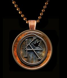Copper KA Symbol The Dark Tower Round Pendant with Chain