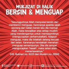 Mukjizat di balik bersin & menguap Doa Islam, Islam Hadith, Allah Islam, Islam Quran, Alhamdulillah, Muslim Religion, Islam Muslim, Islamic Love Quotes, Muslim Quotes