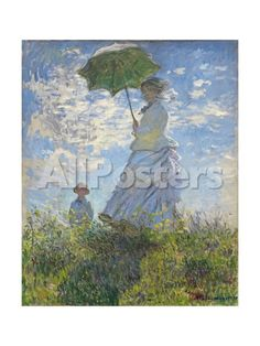 Woman with a Parasol - Madame Monet and Her Son, 1875 by Michael Runkel Landscapes Giclee Print - 46 x 61 cm