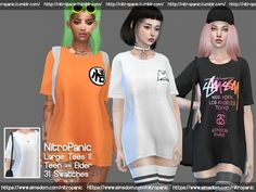 0f6100be6d92 Large Tees Version 2 (FullBody) - The Sims 4 Download - SimsDomination Sims  4