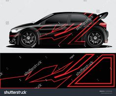 Rally Car Decal Graphic Wrap Vector Stock Vector (Royalty Free) 1429953038 - New Ideas Car Stickers, Car Decals, Vw Lupo Gti, Nissan Pickup Truck, Vinyl Wrap Car, Drift Trike, Unique Cars, Car Tuning, Car Painting