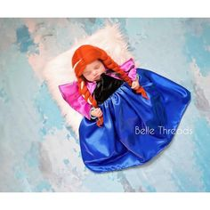 Frozen Princess Princess Anna Frozen Tutu Costume Newborn Handmade Halloween Costumes, Baby Halloween, Halloween Ideas, Princess Anna Frozen, Baby Princess Dress, Newborn Photography Poses, Photography Ideas, Wedding Photography, Newborn Outfits