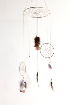 Project Nursery - Dreamcatcher Mobile from The Dream Barn at Whitehall Farm on Etsy